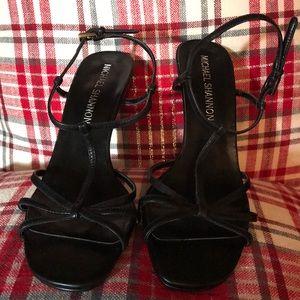 Michael Shannon Black Strappy Heels